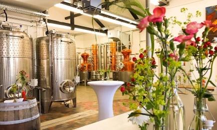 Die Destillerie von Rotarier Christian Orator.